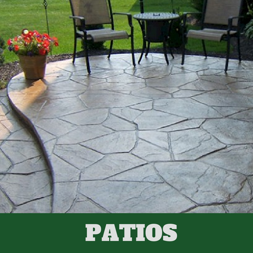 Residential patio in Norwalk, Connecticut with a stamped finish.